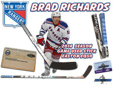 BRAD RICHARDS Game Used Stick NEW YORK RANGERS - EASTON EQ50