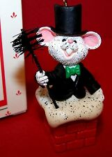 1987 HALLMARK Ornament WEE CHIMNEY SWEEP QX4519 White Mouse NEW Mint in Box MIB
