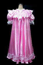 BBT ADULT SISSY SHIMMERING SATIN NIGHTIE / DRESS  pink
