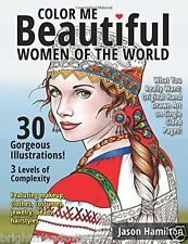 Colour Me Beautiful Women of the World Adult Colouring Book Creative Faces Calm