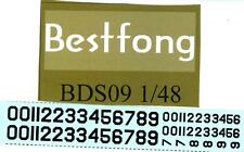 Bestfong Decals 1/48 CHINESE AIR FORCE NUMBERS F-5A, B-25, & F-84G