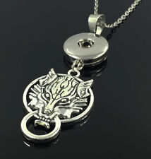 DIY 1pcs Dragon Alloy Pendant With Charm Necklace Fit 18mm Snap Chunk Button