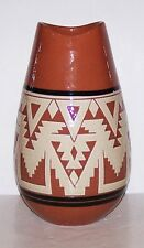 "Wonderful Signed  S. L. JONES SIOUX Pottery 9 3/4"" Tall VASE"