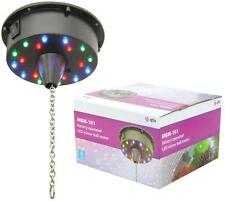New Battery Operated Rotating Motor Mirror Glitter Ball 18 LED Lights DJ Disco