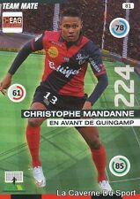 081 CHRISTOPHE MANDANNE FRANCE REUNION EAG GUINGAMP CARD ADRENALYN 2016 PANINI