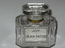 "Vintage Jean Patou Joy Perfume Bottle 1/2 OZ Baccarat - Open - Empty - 2"" Ht."