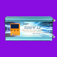 LCD 5000W LF Pure Sine Wave, Power Inverter, DC 24V to AC 230V, Charger/UPS, DE