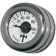 Thunder Cycle Designs Mini Oil Pressure Gauge and Cover - Polished TC-001