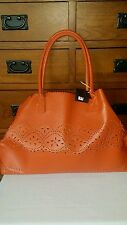 "MUST SEE BEAUTIFUL""BUCO"" LARGE LEATHER EYELIT TOTE HANDBAG (NEW)"