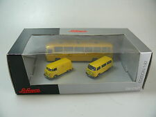 Schuco 1:87 POST-SET 'VW T1/T2/MB O 302', TOP/OVP