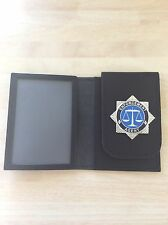 Hand crafted Leather Warrant Card wallet With Enforcement Agent Badge