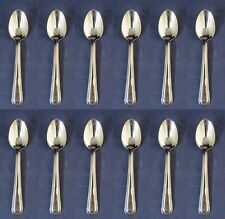 SET OF TWELVE - Sant Andrea VERDI Stainless Oval Soup / Place Spoons USA