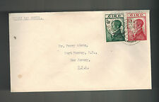 1953 Ireland First Day Cover to USA FDC Set # 149 150 Robert Emmet Execution