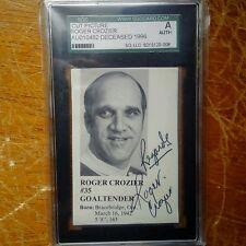 Roger Crozier signed autograph SGC authentic. Calder + Conn Smythe HHOF goalie