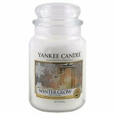 Yankee CANDLE inverno Glow Jar 623g grosso bicchiere housewarmer CANDELA PROFUMATA