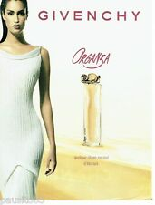 PUBLICITE ADVERTISING 106  1998  le parfum Organza  par Givenchy