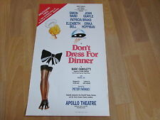 DONT Dress for DINNER  Simon Ward & John Quayle  APOLLO Theatre Original Poster