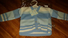 PEQUILINO BABY BOY BLUE STRIPED KNITTED CARDIGAN 18 - 24 MONTHS