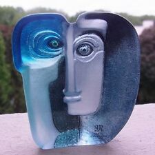 NEU & OVP Maleras Art Glass Sculpture Ideo Blau - Signed - Design -Mats Jonasson