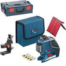 BOSCH Linienlaser GLL 3-80 P mit Universalhalterung BM 1, Laserzieltafel, L-Boxx