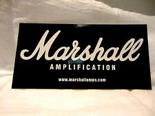 MARSHALL GUITAR AMPLIFIER WHITE ON BLACK DECAL STICKER CASE RACK BUMPER STICKER