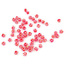100pcs Wholesale AB Round Resin Rhinestone Spacer Loose China Red Bead 10mm L
