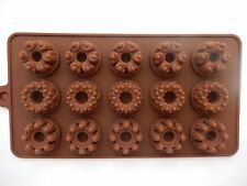 15 Hole Silicone Chocolate Flowers Shape Mould Jelly/Ice/Candy/Chocolate/Cake