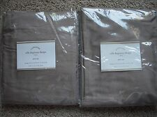 "POTTERY BARN 2 Dupioni Silk Pole Pocket Drape Panels 50 x 84"" - Brownstone NEW"