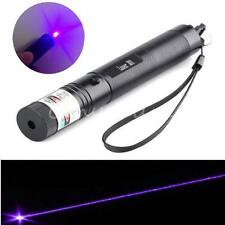 301 Purple Laser Pointer Pen Adjustable Focus Super Laser Visible Beam 405nm 5mw