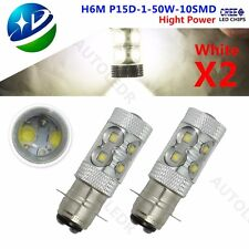 P15D H6M 50W HIGH POWER CREE LED BULB XENON WHITE - MOTO ATV BIKE QUAD 395 X 2