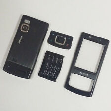 Genuine Full Housing Front Back & Keypad For Nokia 6500 Slide 6500s Black