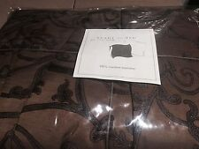 NWT Ann Gish Filigree Cognac Chocolate Brown QUEEN Bedskirt MSRP $350 GORGEOUS!
