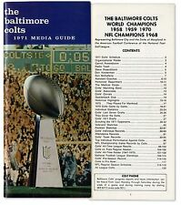 Colts 1971 Media Guide with Super Bowl Trophy on Cover
