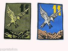 Patch Militare Alpini 11° Reggimento Verde o Azzurra Toppa per Mimetica Vegetata