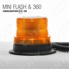 MINI GYROPHARE 40 LED-ORANGE-AIMANTE-FICHE ALLUME CIGARE-MODE ROTATIF 12/24V