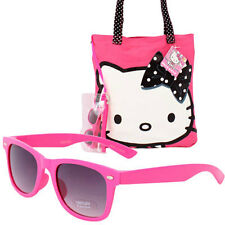Hello Kitty Beach Tote Set - Bag - Sunglasses - Pouch Black Dots Bolso de Playa