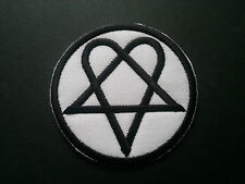 HEAVY METAL PUNK ROCK MUSIC SEW / IRON ON PATCH:- HEARTAGRAM (c) GOTHIC STAR