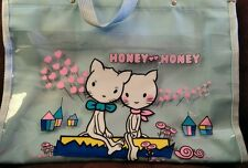 Super rare vintage Honey kitty cats tote bag Hyashi japanese anime harajuku