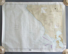 1992 San Francisco to Point Arena Navigation Soundings in Fathoms Chart SF CA
