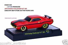 L63 82161 15 M2 GROUND POUNDERS CHASE 1970  DODGE CHALLENGER R/T 383 RED 1:64