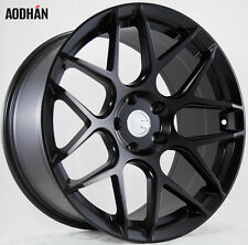 18X9 +30 AodHan LS002 5X120 Black Wheel Fit BMW E60 525 528 535 550 square setup