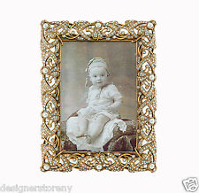 Edgar Berebi Anabelle Two Way Picture Frame Museum Gold Plated Crystals/Pearl