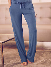 M&S Rosie for Autograph Blue Elasticated Waist Straight Leg Pyjama Bottoms Sz 18