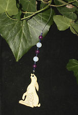 Moon Gazing Hare Yule Decoration - Pagan, Wicca, Winter Solstice, Christmas