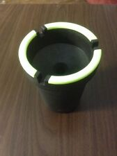 NEW Glow In Dark Top Smoke Free Ashtray fits automatic car cup holders cigarette