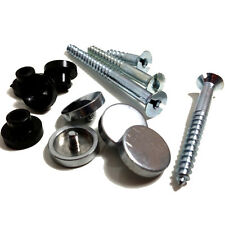 4 x MIRROR SCREW - ZINC - POLISHED CHROME DISC - 50mm
