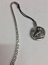 Greek Owl Coin WE-GCKR Pattern Bookmark 3D English pewter charm
