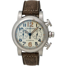 GRAHAM VINTAGE SILVERSTONE VINTAGE 44 CHRONOGRAPH & DATE MEN'S WATCH $7,600 List