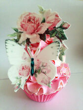 33 pre cut edible roses and butterfly set cake toppers