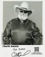 CHARLIE DANIELS AUTHENTIC SIGNED 8x10 PHOTO     DEVIL WENT TO GEORGIA    TO JOHN